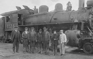 Canadian Northern Railroaders at Big Valley, circa 1922.