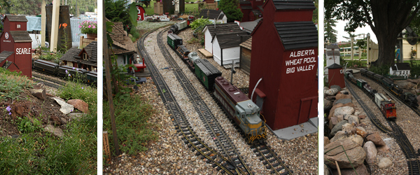 The Morgan Garden Railway  features many types of flowers and plants including a rose garden. Watch G-scale trains, Thomas the Tank Engine, Percy, James or other trains from the early era as they travel along the track along the route of the old Canadian Northern Railway completed with historical buildings built to scale.