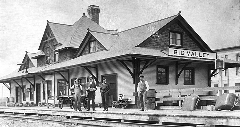 Big Valley station, 1913. ©photo CNoS Archives