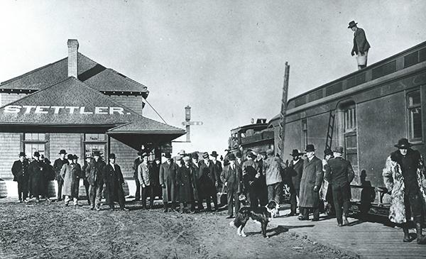 CPR depot Stettler, c. 1906.